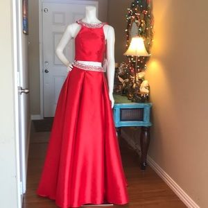 Dresses & Skirts - Red Pageant Dress, Ballroom Gown, Prom Dress